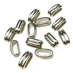 Figurină  margele CCB gaură de 15x6 mm 11 mm culoare argintiu -20 grame