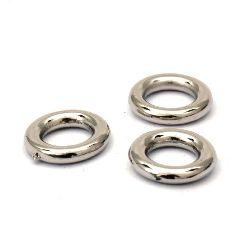 Inel  margele CCB gaură de 12 mm 6,5 mm culoare argintiu -20 grame ± 120 bucăți