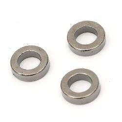 Inel CCB gaură de 12,5 mm 7 mm culoare oțel inoxidabil -20 grame ~ 71 bucăți