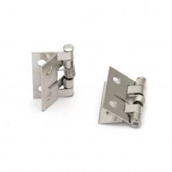 Balama metalică 26x30x4 mm găuri 3 mm culoare argintiu -4 bucăți