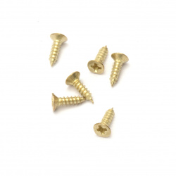 Μεταλλικές βίδες 7x4x2 mm χρυσό - 200 κομμάτια
