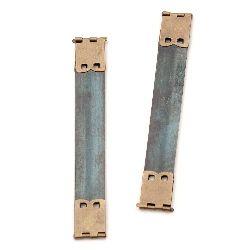 Метален клипс 100x14 мм цвят антик бронз