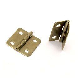 Метална панта 19x16x2 мм дупки 3 мм цвят злато -4 броя