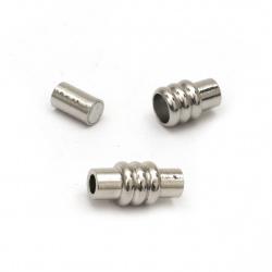 Закопчалка магнитна 15x7 мм дупка 3 мм цвят сребро