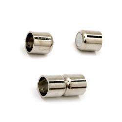 Закопчалка магнитна 17.5x8.5 мм дупка 5.5 мм цвят сребро