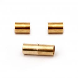 Μαγνητικό κούμπωμα κύλινδρος  22x8 mm τρύπα 6 mm Χρυσό