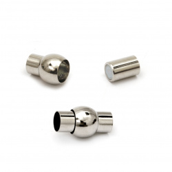 Element de fixare magnetică 18x10 mm 5,5 mm culoare argintie