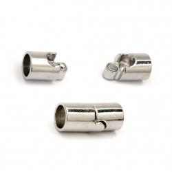 Element de fixare magnetic 20x9 mm gaură 7 mm culoare argintiu