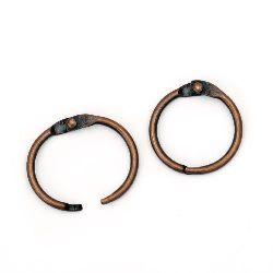 Hinged Ring 20x2mm lock color antique copper -4 pieces Album Decoration
