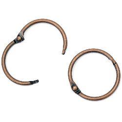 Album Hinged Ring 30x3 mm locking color antique copper -4 pieces