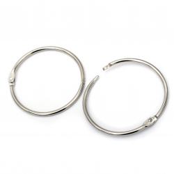 Album Hinged Ring 75x4 mm lock color silver -2 pieces