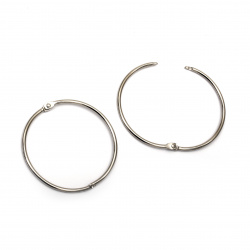 Album Hinged Ring 65x3 mm lock color silver -2 pieces