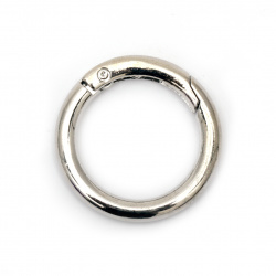 Album Hinged Ring 25x5 mm locking color silver -2 pieces