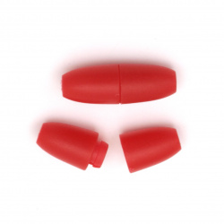 Plastic clasp 24x9 mm hole 2.5 mm red - 5 pieces