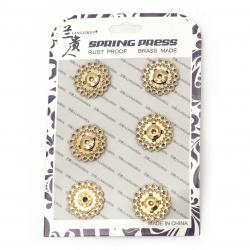 Копче метал тик-так кръг 21x6.5 мм дупка 4 мм цвят злато -1 брой