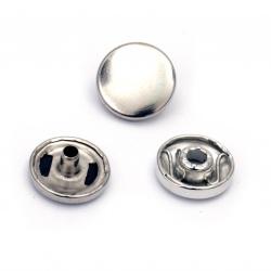 Копче метал тик-так 12x4.5 мм дупка 5 мм цвят сребро -6 комплекта