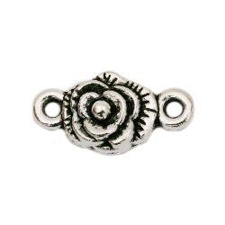 Metal jewellery making connector flower 18 x 9 x 4 mm