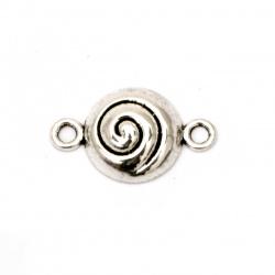 Свързващ елемент метал 23x14x5 мм дупка 2 мм цвят старо сребро -10 броя