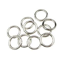 Inel CCB 12x2 mm gaură 7 mm culoare argintiu - 20 grame ~ 120 bucăți