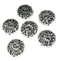 Monedă metalizată  margele 14x5,5 mm gaură 1,5 mm -50 grame