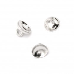 Накрайник метализе за висулка 10x7 мм дупка 2 мм -20 броя