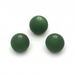 Acrylic ball bead for jewelry making 12 mm hole 2 mm color pastel green - 20 grams ~ 20 pieces