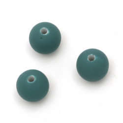 Acrylic ball bead for jewelry making 12 mm hole 2 mm color pastel turquoise - 20 grams ~ 20 pieces