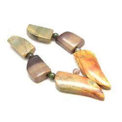 Margele de coarde piatră semiprețioasă TURCOAZ 18 ~ 34x10 ~ 13x5 ~ 6 mm
