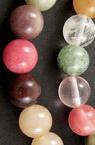 Наниз мъниста полускъпоценен камък АСОРТЕ 6 мм ±65 броя
