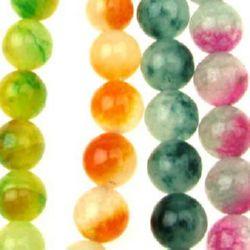Sir de perle  Semi-Prețioase Piatră de Jadeit Asortate Culori Bile 12mm ~ 32 bucăți