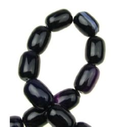 AGATE Dyed Oval Beads Strand Purple 13x18 mm ~ 22 pcs