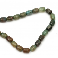 Gemstone Beads Strand, Agate, Oval, 10.5x13.5mm, ~28 pcs