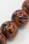 Mărgele cu coarde Piatră semiprețioasă piatra soarelui maron și albastru 14mm ~ 28 bucăți
