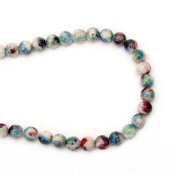 Sir de margele coarde Semi-Prețioase Piatră de Jadeit Asortate Culori Bile 12mm ~ 32 bucăți