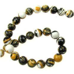 Gemstone Beads Strand, Synthetic Malachite, Round, 8mm, 51 pcs