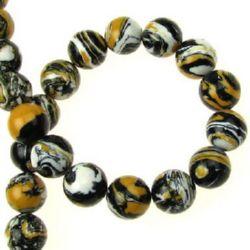 Gemstone Beads Strand, Synthetic Malachite, Round, 10mm, 38 pcs