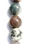 Șireturi mărgele piatră semiprețioasă AGAT INDIAN clasa A bilă 8 mm ~ 48 bucăți