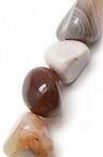 Striped Botswana Agate Beads 8 ~ 12x8 ~ 12mm ~ 44 pcs