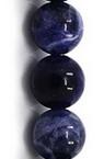 Gemstone Beads Strand, Sodalite, Round, 8mm, ~24 pcs