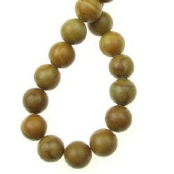 Perle de coarde Semi Prețioase Bile din lemn Jasp 8mm ~ 48 bucăți