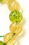 Наниз мъниста полускъпоценен камък АСОРТЕ КАМЪНИ ЦИТРИН и КВАРЦ топче 12 мм ~16 броя