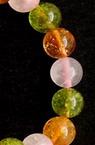 Наниз мъниста полускъпоценен камък АСОРТЕ КАМЪНИ ЦИТРИН, КВАРЦ И Ringwoodite топче 8 мм ~24 броя