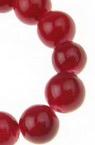 Șir mărgele din piatră semiprețioasă bile de culoare roșu CORAL 8mm ~ 48 bucăți