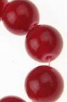 Κοράλλι στρόγγυλη ημιπολύτιμη χάντρα 10 mm κόκκινη βαμμένη ~ 38 τεμάχια