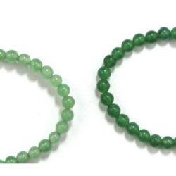 Gemstone Beads Strand, Aventurine, Round, Green, 4mm, ~100 pcs