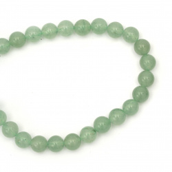 Perle de coarde Semi-Prețioase Bile Aventurine Green 8mm ~ 50 bucăți