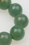 Margele de coarde din piatră semiprețioasă Aventurine Ball VERDE INCHIS 16 mm ~ 25 bucăți
