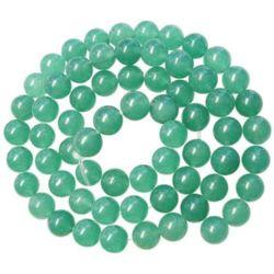 Наниз мъниста полускъпоценен камък АВАНТЮРИН зелен3 топче 8 мм ±50 броя