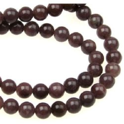 Gemstone Beads Strand, Aventurine, Round, Purple, 6mm, ~64 pcs