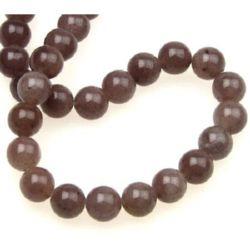 Gemstone Beads Strand, Aventurine, Round, Purple, 8mm, ~50 pcs